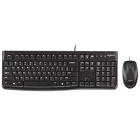 Logitech 920002565 MK120 Wired Black Keyboard with Mouse