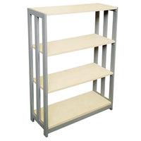 Linea Italia TR735OAT Trento Oatmeal 3 Shelf Woodgrain Laminate Bookcase - 31 1/2 inch x 11 5/8 inch x 43 1/4 inch