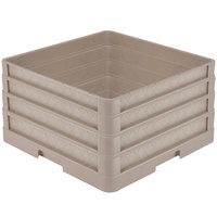 Vollrath CR1AAA Traex® Full-Size Beige 9 1/2 inch Open Rack with Closed Sides and 3 Beige Extenders