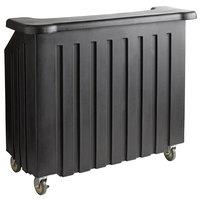 Cambro BAR540110 Cambar® Black 54 inch Portable Bar with 5-Bottle Speed Rail