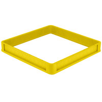 Vollrath CRA-08 Traex® Full-Size Yellow Open Extender with Closed Sides