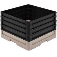 Vollrath CR1AAAA-32806 Traex® Full-Size Beige 11 1/2 inch Open Rack with Closed Sides and 4 Black Extenders