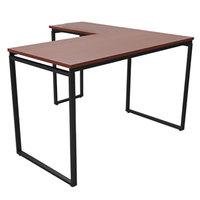 Linea Italia SV751CH Seven Series Cherry L-Shaped Desk - 59 inch x 47 1/4 inch x 29 1/2 inch