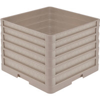 Vollrath CR1AAAAA Traex® Full-Size Beige 13 1/2 inch Open Rack with Closed Sides and 5 Beige Extenders
