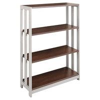 Linea Italia TR735MOC Trento Mocha 3 Shelf Woodgrain Laminate Bookcase - 31 1/2 inch x 11 5/8 inch x 43 1/4 inch