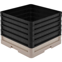 Vollrath CR1AAAAA-32806 Traex® Full-Size Beige 13 1/2 inch Open Rack with Closed Sides and 5 Black Extenders