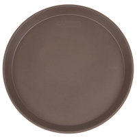 Cambro 1100CT138 Camtread® 11 inch Round Tavern Tan Non-Skid Serving Tray