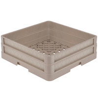 Vollrath CR1A Traex® Full-Size Beige 5 1/2 inch Open Rack with Closed Sides and 1 Beige Extender