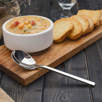 Walco 0912 Semi 7 inch 18/10 Stainless Steel Extra Heavy Weight Bouillon Spoon - 12/Case