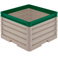 Vollrath CR1AAAA-32919 Traex® Full-Size Beige 11 1/2 inch Open Rack with Closed Sides - 3 Beige Extenders, 1 Green Extender