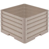 Vollrath CR1AAAA Traex® Full-Size Beige 11 1/2 inch Open Rack with Closed Sides and 4 Beige Extenders
