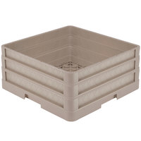 Vollrath CR1AA Traex® Full-Size Beige 7 1/2 inch Open Rack with Closed Sides and 2 Beige Extenders