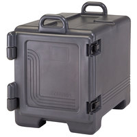 Cambro 1318CC615 Combo Carrier Charcoal Gray Front Loading Insulated Tray / Sheet Pan and Food Pan Carrier