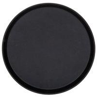 Cambro 1400TL110 Treadlite™ 14 inch Round Black Non-Skid Fiberglass Serving Tray