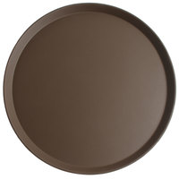 Cambro 1800CT138 Camtread® 18 inch Round Tavern Tan Non-Skid Serving Tray