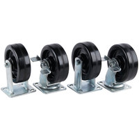 Vulcan CASTERS DOUBLE 6 inch Plate Caster - 4/Set