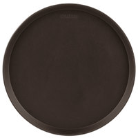 Cambro 1600CT138 Camtread® 16 inch Round Tavern Tan Non-Skid Serving Tray