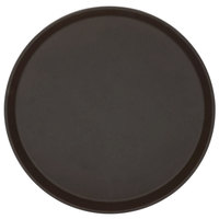 Cambro 1400TL138 Treadlite™ 14 inch Round Brown Non-Skid Fiberglass Serving Tray