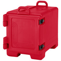 Cambro 1318CC158 Combo Carrier Red Insulated Front Loading Tray / Sheet Pan and Food Pan Carrier