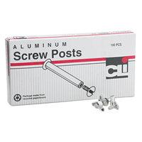 Charles Leonard 3703L 3/16 inch x 1/2 inch Aluminum Screw Post - 100/Box