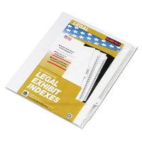 Kleer-Fax 82244 80000 Series Legal Exhibit Pre-Printed 44 inch Side Tab Divider - 25/Pack
