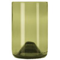 Libbey 97280 12 oz. Dark Olive Repurposed Wine Bottle Tumbler - 12/Case