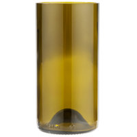 Libbey 97282 16 oz. Dark Olive Repurposed Wine Bottle Tumbler - 12/Case