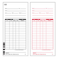 Lathem E7100 Numbered 1-100 Two-Sided Time Card - 100/Pack