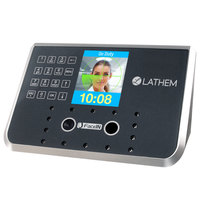 Lathem FR650KIT 7 1/4 inch x 3 1/2 inch x 5 1/4 inch Gray 500 Employee Face Recognition Time Clock System