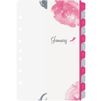 Day-Timer 14210 Pink Ribbon 5 1/2 inch x 8 1/2 inch Two-Pages-Per-Week 2020 Organizer Refill