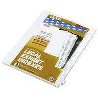 Kleer-Fax 82225 80000 Series Legal Exhibit Pre-Printed 25 inch Side Tab Divider - 25/Pack