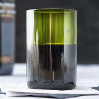 Libbey 97287 12 oz. Green Repurposed Wine Bottle Tumbler - 12/Case