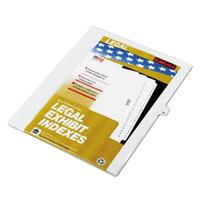 Kleer-Fax 82236 80000 Series Legal Exhibit Pre-Printed 36 inch Side Tab Divider - 25/Pack
