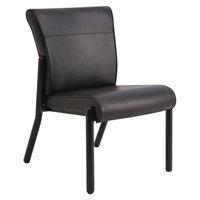 La-Z-Boy LF14NWSHBK Gratzi Reception Series Black Vinyl Armless Guest Chair
