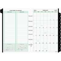 Day-Timer 12010 5 1/2 inch x 8 1/2 inch Dated One-Page-Per-Day 2019 Organizer Refill