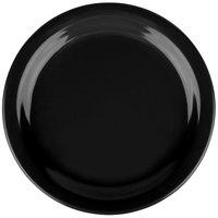 Carlisle 4385403 Black Dayton 7 1/4 inch Melamine Salad Plate - 48/Case