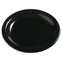 Carlisle 4385403 Black Dayton 7 1/4 inch Melamine Salad Plate - 48 / Case