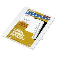 Kleer-Fax 82243 80000 Series Legal Exhibit Pre-Printed 43 inch Side Tab Divider - 25/Pack