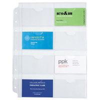 Day-Timer 87325 8 1/2 inch x 11 inch Loose-leaf Planner Business Card Holder - 5/Pack