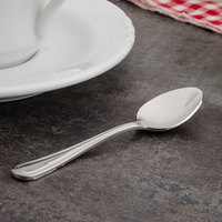 Walco PAC29 Pacific Rim 4 5/16 inch 18/10 Stainless Steel Extra Heavy Weight Demitasse Spoon - 24/Case