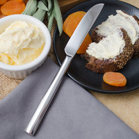 Walco 1211 Erik 7 inch 18/10 Stainless Steel Extra Heavy Weight Butter Knife - 12/Case