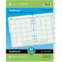 Day-Timer 87329 8 1/2 inch x 11 inch White / Green Monthly 2020 Planner Refill