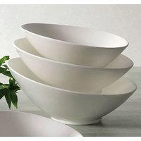 CAC SHER-B10 Sheer 1.125 Qt. Bone White Porcelain Salad Bowl - 12/Case