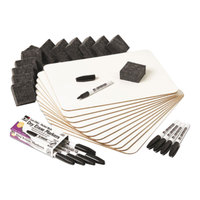 Charles Leonard 35036 9 inch x 12 inch White Dry Erase Board Lapboard - 12/Pack