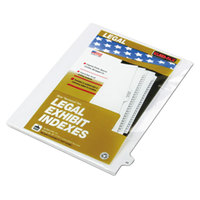 Kleer-Fax 82249 80000 Series Legal Exhibit Pre-Printed 49 inch Side Tab Divider - 25/Pack