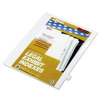 Kleer-Fax 82247 80000 Series Legal Exhibit Pre-Printed 47 inch Side Tab Divider - 25/Pack