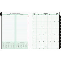 Day-Timer 14010 8 1/2 inch x 11 inch Dated One-Page-Per-Day 2019 Organizer Refill