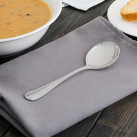 Walco PAC12 Pacific Rim 5 3/4 inch 18/10 Stainless Steel Extra Heavy Weight Bouillon Spoon - 24/Case