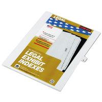 Kleer-Fax 80013 80000 Series Legal Exhibit Pre-Printed M Side Tab Divider - 25/Pack