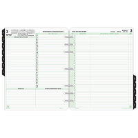 Day-Timer 94800 8 1/2 inch x 11 inch Reference Dated Two-Page-Per-Day 2018 Organizer Refill